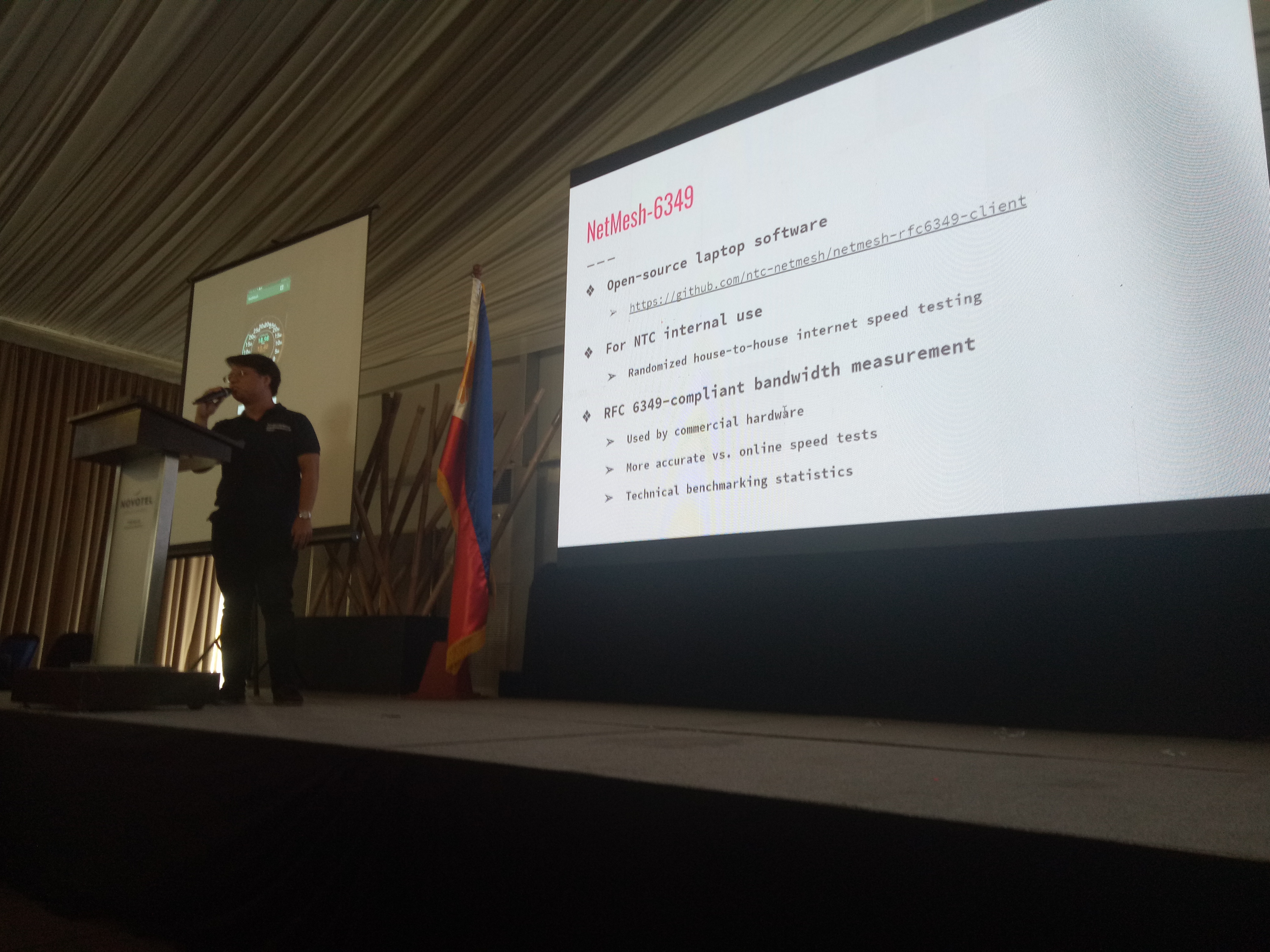 Instructor Coronel delivers technical talk at NTC NetMesh Project launch